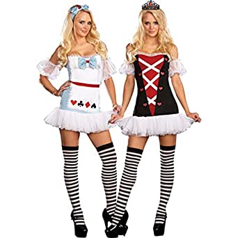 Amazon.com: Tea for Two Alice in Wonderland Junior Costume: Clothing