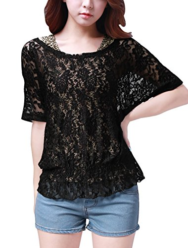 allegra-k-women-half-sleeve-elastic-hem-lace-shirt-w-leopard-prints-tank-top