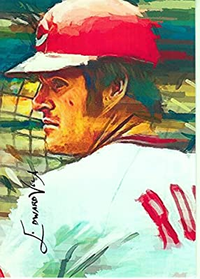 Pete Rose: Cincinnati Reds: 2014 Limited Edition Original Artwork Sketch Card #26/100