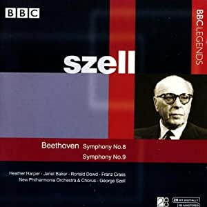 ベートーヴェン:交響曲第8番, 第9番「合唱付き」(ニュー・フィルハーモニア管/合唱団/セル)(1968)
