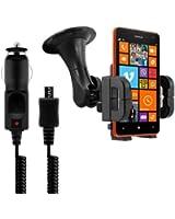 kwmobile® Support pour Nokia Lumia 625 + chargeur. Le portable rentre dans le support même avec sa housse ou son boîtier! Qualité.