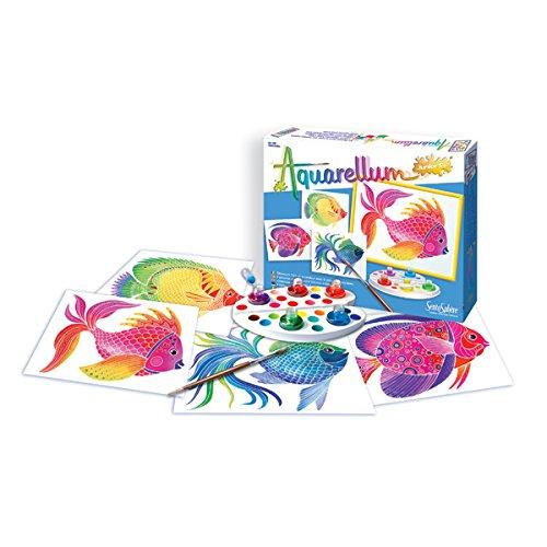 sentosphere-3900046-junior-peces-aquarellum-pintura-conjunto-4-para-colorear