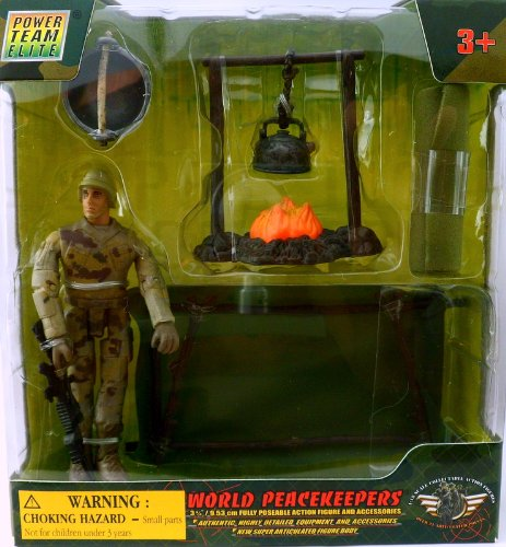 World Peacekeepers  - Soldier with Campfire