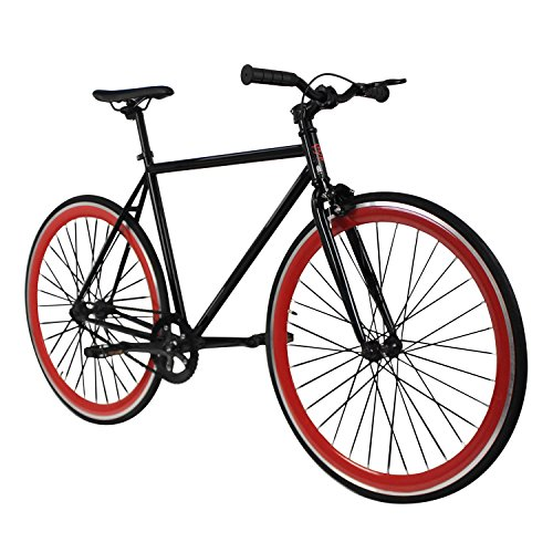 Find Discount Zydek Fixed Gear Single Speed Fixie Road Bike with Flip Flop Hub Size Medium (54cm)