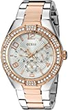 GUESS Women's Quartz Stainless Steel Automatic Watch, Color:Two Tone (Model: U0729L4)