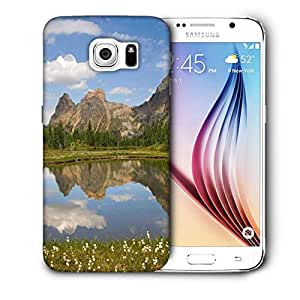 Snoogg Lake Side White Flower Printed Protective Phone Back Case Cover For Samsung Galaxy S6 / S IIIIII