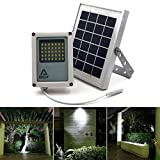 ALPHA 180X Solar Flood Light as Security Floodlight and Area Lighting for Farm Area, Yard, Home Garden, Remote Cabin, Alley, Public Assest with Danger Warning Signs