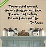 Dr.Seuss The More You Read Vinyl Deca...