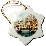 3dRose Edmond Hogge Jr - Countrys - Venetian Las Vegas - 3 inch Snowflake Porcelain Ornament (orn_214829_1)