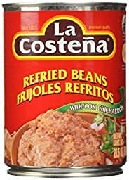 La Costena Refried Beans with Chicharron, 20.5 Ounce (Pack of 12)