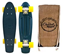"Penny Authentic Original Plastic Vinyl Organic Cruiser Skateboard Complete 22"" Dark Green/White/Yellow"