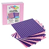 "Brick Building Base Plates By SCS - Small 5""x5"" Pink And Purple Friends-Inspired Baseplates (10 Pack"