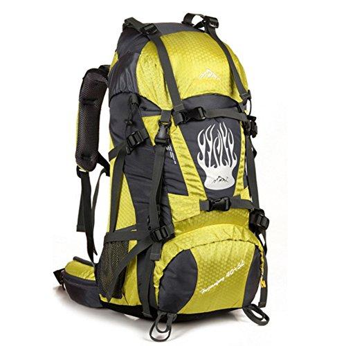 Grand sac de capacité / alpinisme sac à dos / extérieur sac de sport / sac de Voyage-jaune 60L