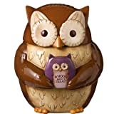 Grasslands Road Crimson Hallow Owl Cookie Jar Empty Full Treats Gift
