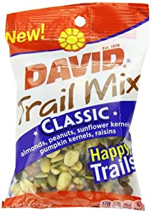 David Seeds Trail Mix, Classic, 5.25 Ounce (Pack of 8) by DAVID Seeds