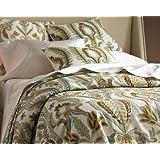 Crewel Pillow Euro Sham Renaissance Villa Multi Cotton Duck (26X26)