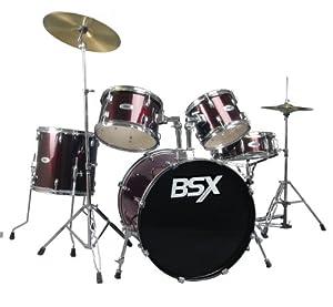 BSX Drums D622-WR 5 Piece Drum Kit