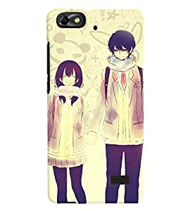 Fuson Love Couple Back Case Cover for HUAWEI HONOR 4C - D3686