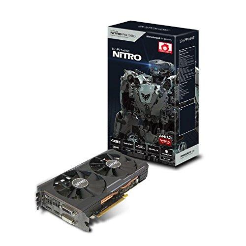 Sapphire AMD Radeon R9 380 tarjeta gráfica con 4 GB GDDR5 Nitro (PCI Express 3,0, HDMI 1,4, DVI-I, DVI-D, puerto de pantalla de 1,2, 256 bit)