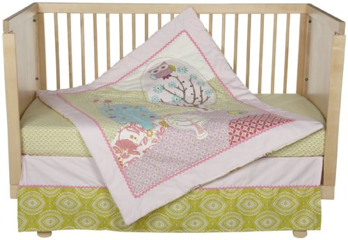 Lolli Living 4pc Crib Set- Poppy Seed - 1