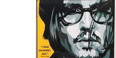 ジョニー・デップ 海外グラフィックアートパネル 木製 ポスター インテリアに