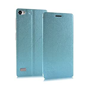 Newtronics Premium Luxury PU Leather Flip Stand Back Case Cover For Lenovo Vibe X2 Dual Sim 4G LTE - Power Blue