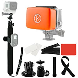 CamKix Pole and Floaty Bundle for GoPro Hero - Includes 1 Adjustable Telescopic Pole with 14
