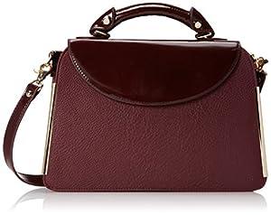 Ivanka Trump Crystal IT1812 Top Handle Bag,Wine,One Size