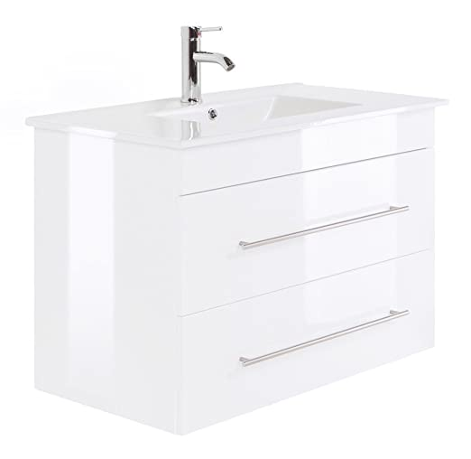 Infinity 900 Bathroom Furniture White High-Gloss