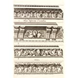 Four designs of cornices, by Daniel Marot (V&A Custom Print)