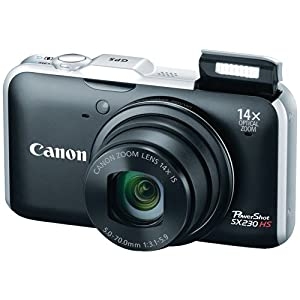 Canon PowerShot SX230HS 12 MP Digital Camera with HS SYSTEM and DIGIC 4 Image Processor