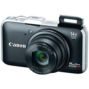 Canon PowerShot SX230HS 12 MP Digital Camera with HS SYSTEM and DIGIC 4 Image Processor (Black)
