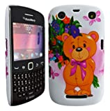 Cellmax Blackberry Curve 9360 3G Hard Shell Back Protection Teddy Bear Pattern Case Cover Skin Slim Clip On Protection