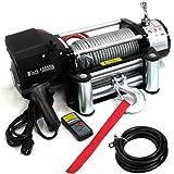 24V 電動ウインチ 電動ホイスト 4537kg / 10000LBS