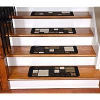 Dean Washable Non-Skid Carpet Stair Treads - Hop Scotch Chocolate