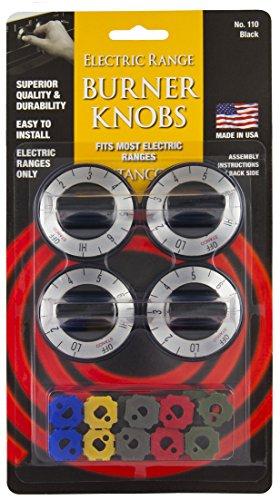 Stanco 4 Chuck dismiss Universal Electric Range Stove Knobs, Black