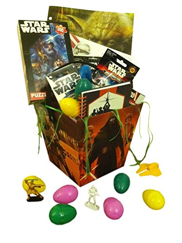 Star Wars Easter Basket with Eggs, Grass, Puzzle, Journal, Stickers, Figures and More - 12 Pieces