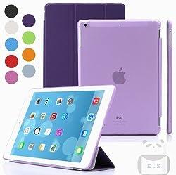 Elite Ultra Thin Smart Flip Foldable Flip Case cover Apple iPad Air 2 (iPad 6) Tablet with Glittering stylus (Sleep/wakeup) (Purple)