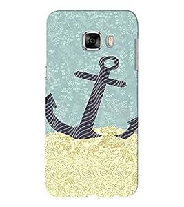 EPICCASE Anchor dropped Mobile Back Case Cover For Samsung C5 (Designer Case)
