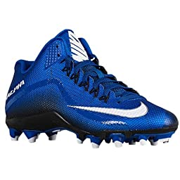 Nike Mens Alpha Pro 2 3/4 TD Football Cleats Sport Royal/Black/White 719927-410 Size 9.5