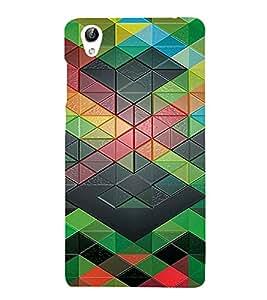 PrintVisa Geometrical Pattern 3D Hard Polycarbonate Designer Back Case Cover for VivoY51L