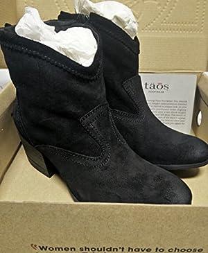 TAOS Savvy Black Toe Women's Bootie