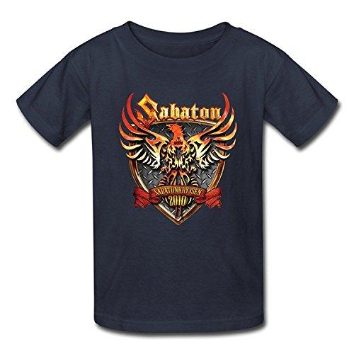 Goldfish Youth Nerd 100% Cotton Sabaton T-Shirt Large