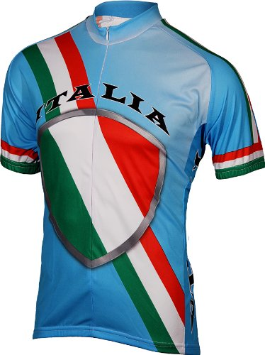 BDI Men's Italy Cycling Jersey, Light Blue/Red/White/Green, Large (Cycling Italia compare prices)