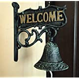 Welcome Doorbell Vintage Cast Iron Wrought Iron Garden Wall Decorations