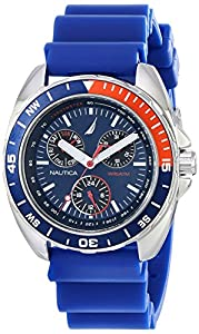 Nautica Men's N07578G Sport Ring Blue and Red Watch
