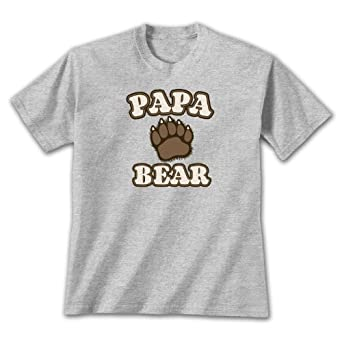 Papa Bear ~ Sports Grey T-Shirt Small