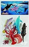 Cofalu - 1508GU - Figurine - 9 x Animaux de Mer - Modèle aléatoire