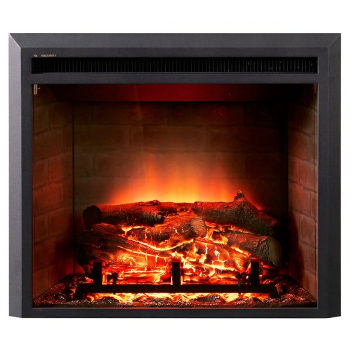 Dynasty Dynasty Zero Clearance Led Electric Fireplace Insert, Black, 28 In.