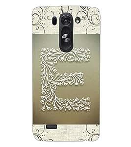"""ColourCraft Alphabet """"E"""" Design Back Case Cover for LG G3 BEAT"""